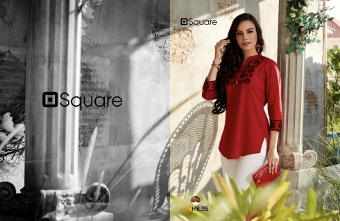 100 MILES SQUARE COTTON KURTIS WHOLESALE SURAT (2)