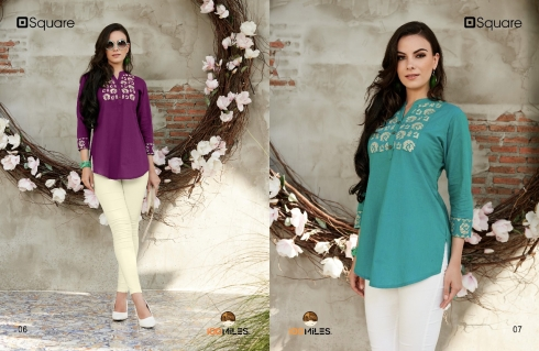 100 MILES SQUARE COTTON KURTIS WHOLESALE SURAT (4)