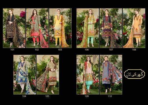 X HOUSE OF LAWN MUSLIN WHOLESALE SALWAR SUITS MANUFACTURER (2)