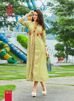 KAJAL STYLE FASHION ADIBA VOL 1 WHOLESALE KURTI (11)