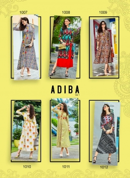 KAJAL STYLE FASHION ADIBA VOL 1 WHOLESALE KURTI (14)