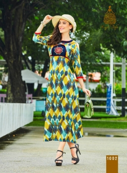 KAJAL STYLE FASHION ADIBA VOL 1 WHOLESALE KURTI (2)