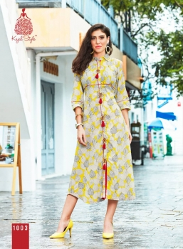 KAJAL STYLE FASHION ADIBA VOL 1 WHOLESALE KURTI (3)