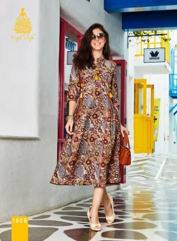 KAJAL STYLE FASHION ADIBA VOL 1 WHOLESALE KURTI (9)